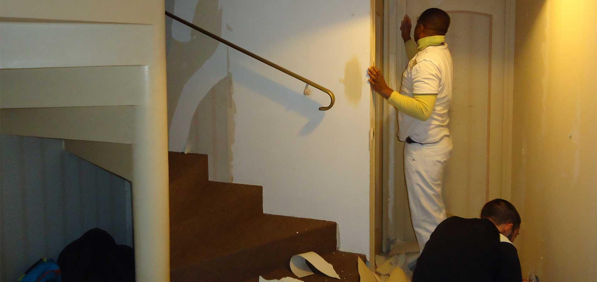 papier peint devis r novation mur essonne 91 en ile de. Black Bedroom Furniture Sets. Home Design Ideas