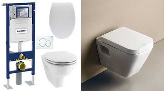 prix pose WC suspendu
